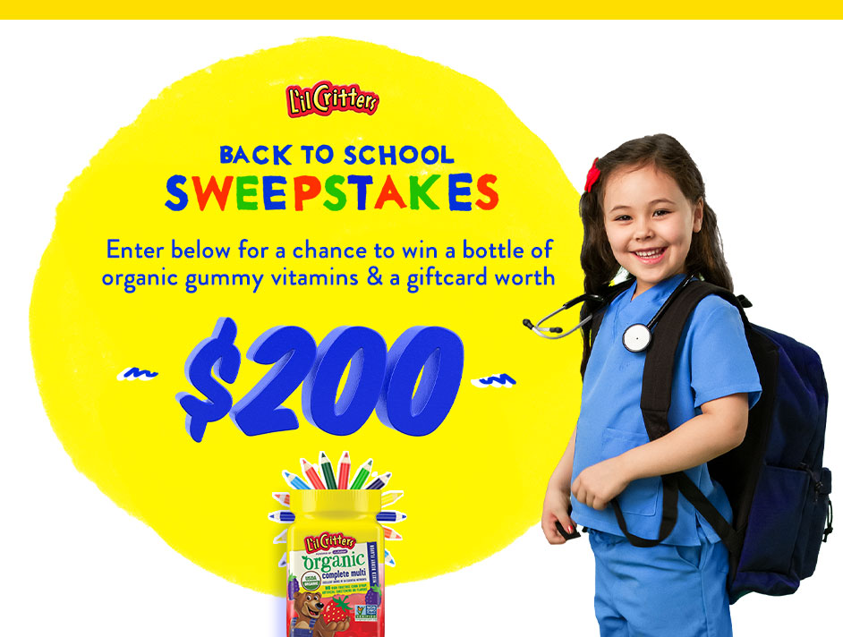 Lil Critters Back to School Sweepstakes