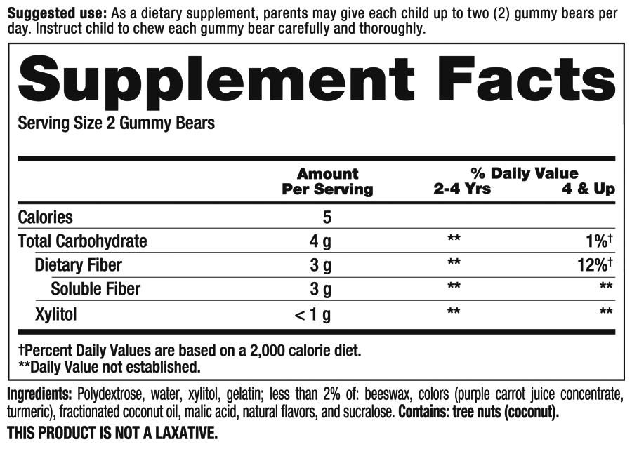 Fiber Supplement Facts