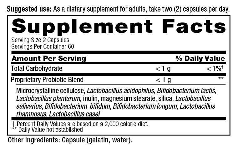 PB8 Original supplement facts