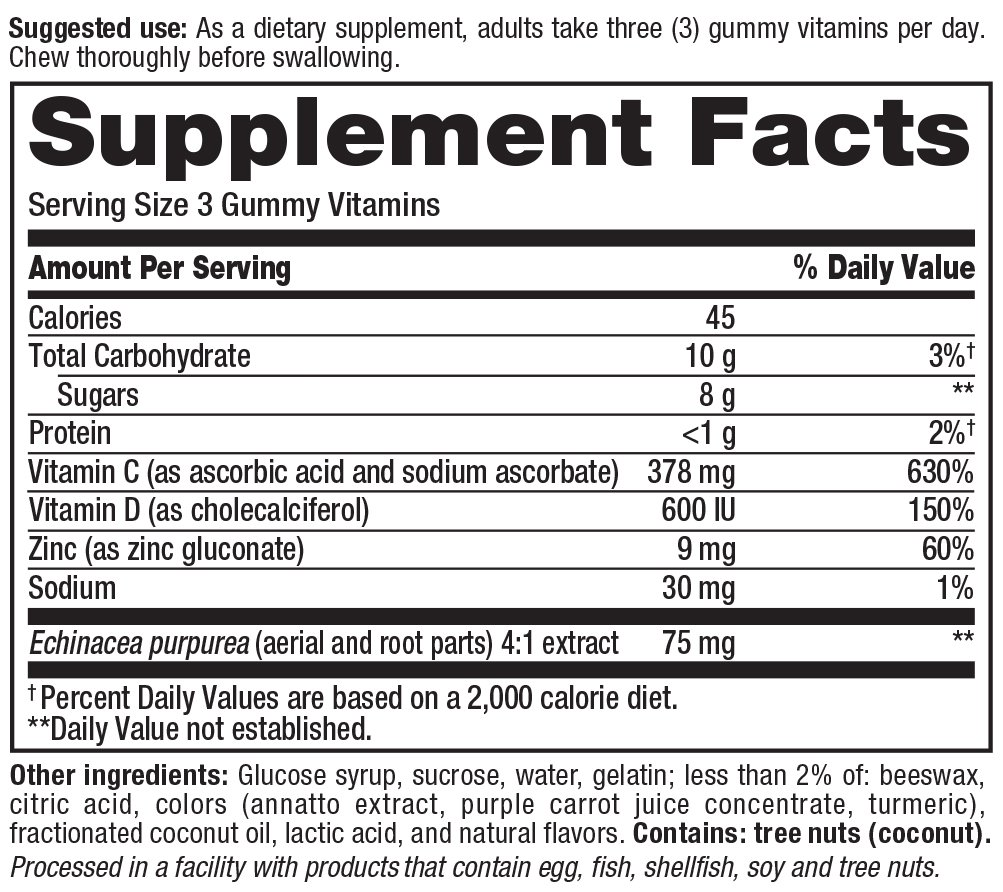 ImmuneWell Supplement Facts