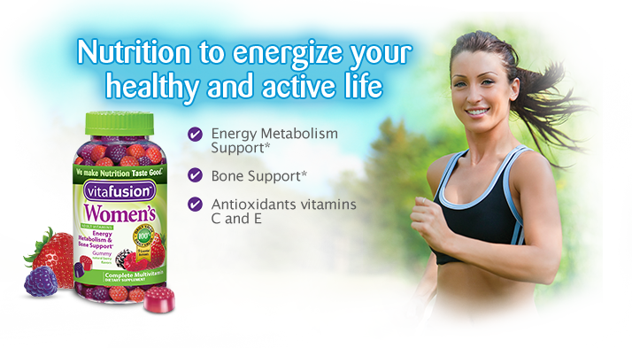 Just For Women: Energy metabolism support*, Bone Support*, Antioxidant vitamins C and E